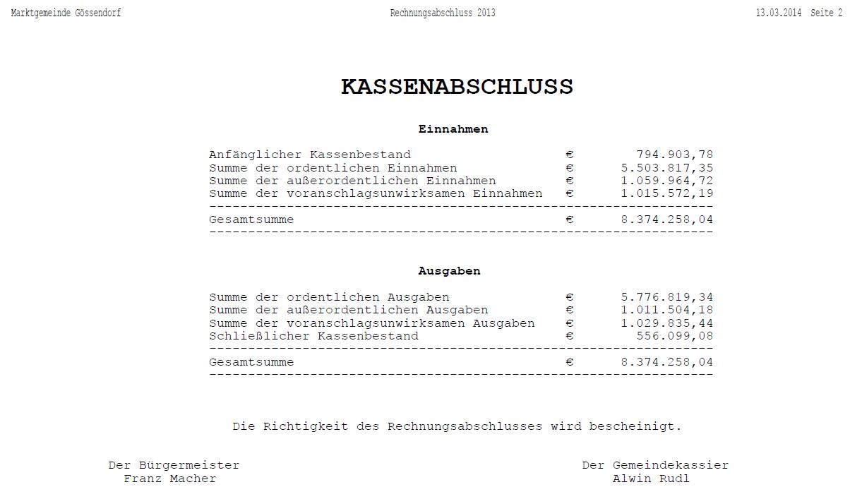 Kassenabschluss_Rechnungsabschluss2013