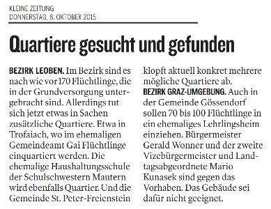 Kleine_Zeitung_2015_10_08_Quatier_gesucht_und_gefunden_small