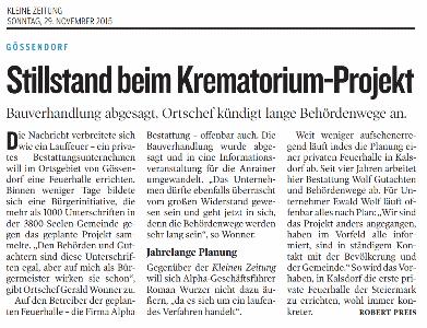 Kleine_Zeitung_2015_11_29_Stillstand_Krematoriums