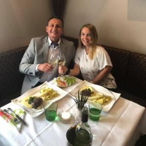 Barbara & Thomas Gollner beim Hochzeitstag Dinner